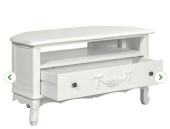 reputable site 6704a 42278 Shabby chic corner TV stand - White - Dunelm Toulouse collection   in  Tonbridge, Kent   Gumtree