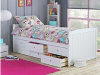 Collection Lennox 6 Drawer Cabin Bed Frame - White