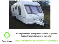 2002 fleetwood cb 600 4 berth fixed bed full awning -- Read the description before replying!!