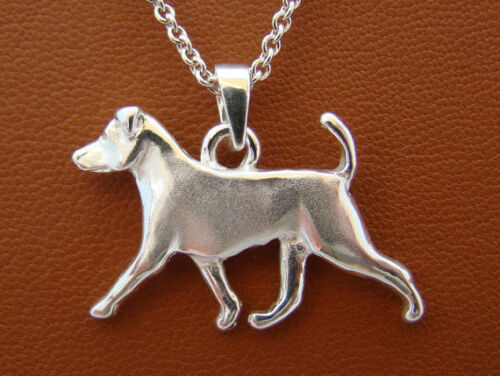 Small Sterling Silver Jack Russell Terrier Moving Study Pendant