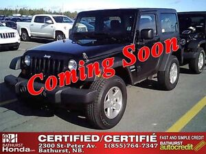 2012 Jeep Wrangler Sport Certified! 4X4! Convertible with Remova