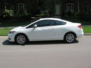 2012 Honda Civic EX, cert., 59K km, $10995, sunroof, very clean