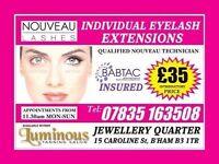 NOUNEAU individual eyelash extensions *£35* Call: 07835 163508
