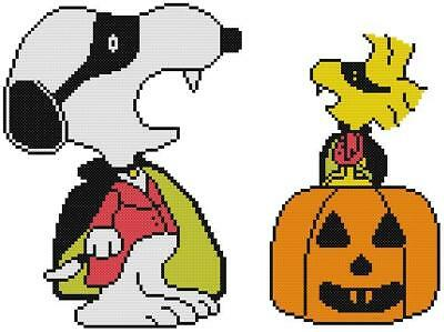 CROSS STITCH+ CRAFT PATTERN Halloween Vampire Costumes Snoopy Woodstock Pumpkin](Snoopy Costume Pattern)