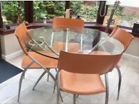 Four Calligaris Chairs (Table now sold)