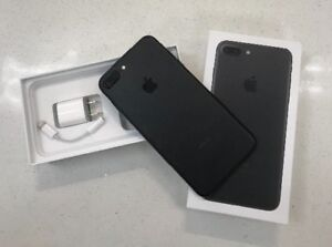 iPhone 7 PLUS Matte Black 256GB unlocked with box an accessories