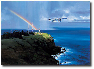 - The Light at Kilauea Point (Artist Proof) by Jack Fellows - PBY Catalina