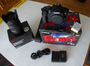 Canon Rebel T5I DSLR with Sigma Lens