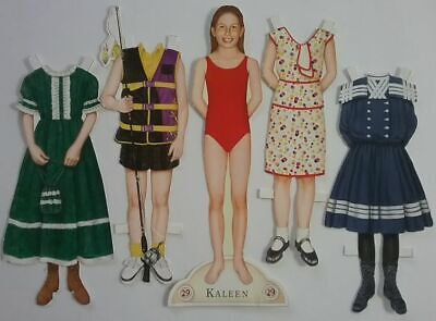 Kaleen Long #29 American Girl Magazine Cut Paper Doll w/ 4 Outfits 1990's
