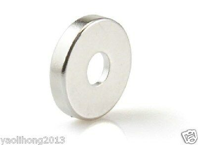 20pcs Strong Ring Magnet 10 X 3 mm Countersunk Hole:3mm Rare Earth Neodymium N50