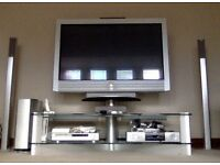 """42"""" Sony Plasma TV including stand and 4 stand alone speakers"""