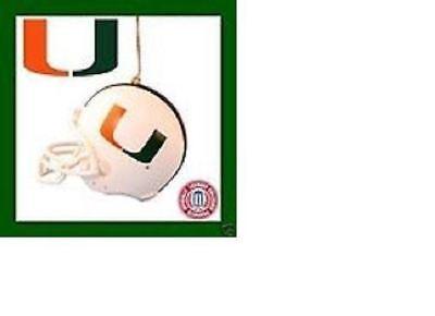 MIAMI UNIVERSITY FOOTBALL HELMET COLLEGE XMAS TREE ORNAMENT HOLIDAY GIFT - College Football Ornaments