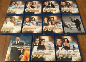 Selling as a lot Bond 007 blu-rays