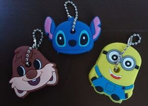 NEW: Silicone Key Covers (Minions, Lilo & Stitch ,or Chipmunks)