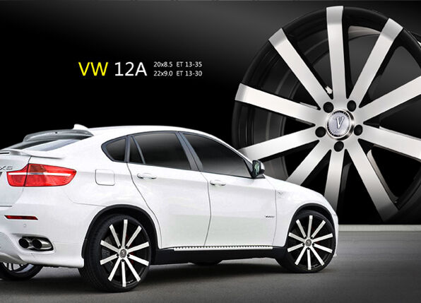 "20"" Velocity V12 Black M Wheels Rims Tires Fit Honda Toyota Kia Nissan Hyundai"