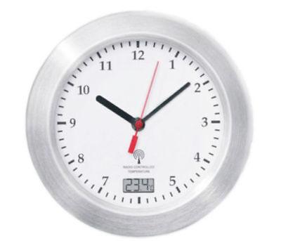 Mebus Funk Wanduhr Saugnäpfe Thermometer Uhr 17 cm Funkuhr Badezimmeruhr  Weiss c977633d5a67c