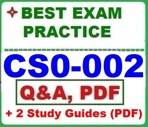 CS0-002 CompTIA CySA+ Exam - BEST EXAM Q&A + 2 STUDY GUIDES