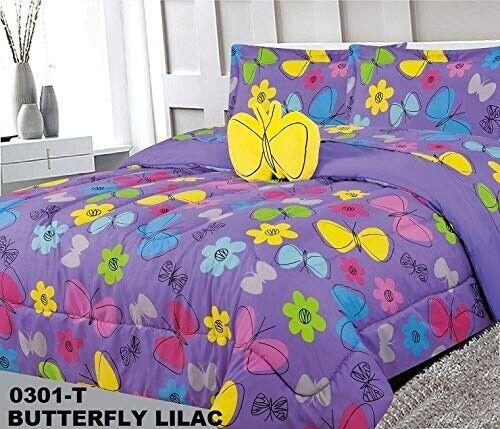 Superior Home Butterfly Kids Girls Comforter Bedding Set 6 P