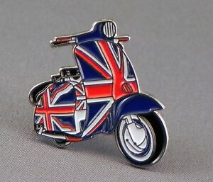 Union Jack Scooter Mod/Skinhead/Scooterist/Lambretta Quality Lapel Pin Badge