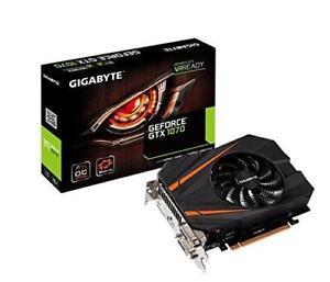 GIGABYTE GeForce GTX 1070 Mini ITX OC 8GB (GV-N1070IXOC-8GD)  1531 MHz Base/1746 MHz Boost , 8008 MHz Memory  PCI-E 3.0,
