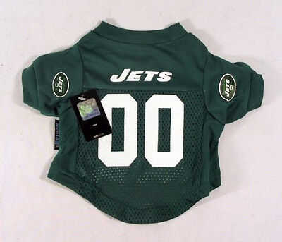 "(MEDIUM 14""-15"") NFL New York Jets Dog Pet Jersey Shirt Clothing"