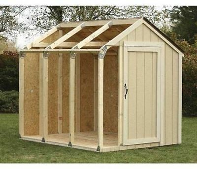 Hopkins Peak Style Roof Shed Kit Outdoor Backyard Storage Tool Yard Organizer