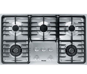 """Mint Miele KM3475GSS 36"""" Stainless S Gas Cooktop 5Sealed Burner,"""