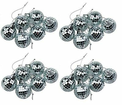 24 Silver Mini Disco Mirror Ball Christmas Tree Bauble Home Party Decoration Gif - Halloween Party Gif