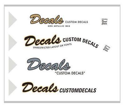 2 Custom Waterslide Headstock Decals + FREE Fender pick