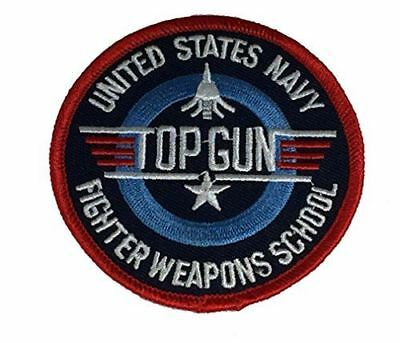 USN NAVY TOP GUN FIGHTER WEAPONS SCHOOL PATCH NAVAL AVIATION VETERAN PILOT