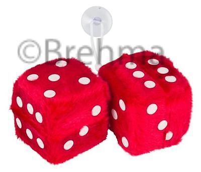 Würfel fuzzy Dice Plüschwürfel  Rot 5x5cm online kaufen