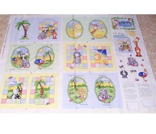 Baby Book Fabric Panel Ebay