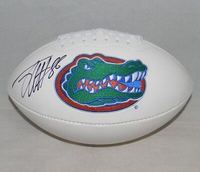 JORDAN REED SIGNED AUTOGRAPHED FLORIDA GATORS WHITE LOGO FOOTBALL JSA