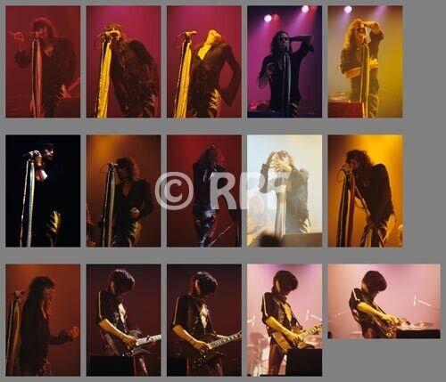 Aerosmith 77/10/20 photo SETa, 15 photos 4x6 - TORONTO