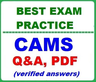 CAMS -Best Exam Practice Q&A- ACAMS Certified Anti-Money Laundering Specialists