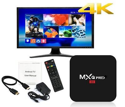 MXQ Pro 4K 3D 64Bit Android 7.1.2 Quad Core Smart TV Box 1080P HDMI WIFI 17.6, used for sale  Staten Island