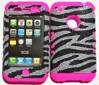 Bling Zebra iPhone 3GS Case