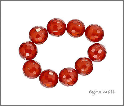 Cubic Zirconia Faceted Round Beads 8mm Red  8pc - Cubic Zirconia Faceted Round Beads