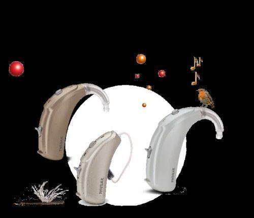 2x Phonak Naida V50 Ric/sp/up Behind The Ear Digital Hearing Aid + Warranty