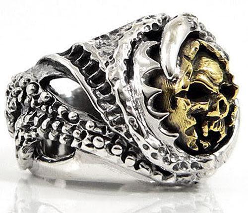 14k Gold Skull Ring Ebay