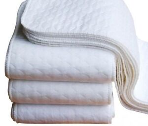 10pc-High-Quality-3-Layer-100-Cotton-Soft-Baby-Diaper-Inserts-Washable-NEW
