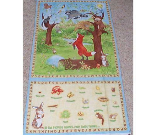Woodland Animals Fabric Ebay