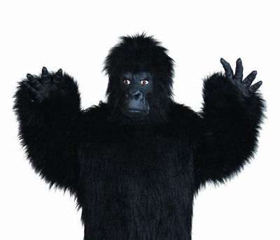 Chimpanzee Mask (ADULT LATEX GORILLA HANDS APE CHIMPANZEE MONKEY ANIMAL COSTUME MITTS BLACK)