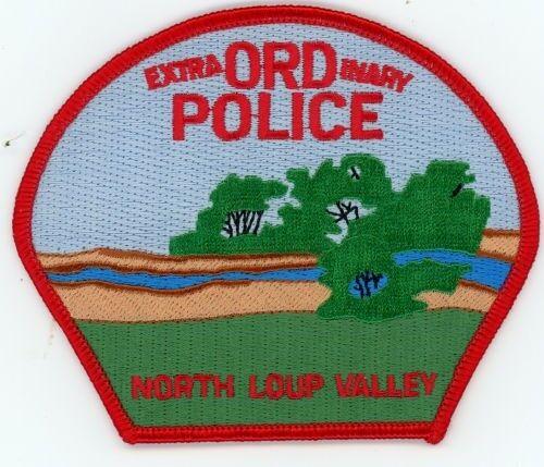 ORD POLICE NEBRASKA NE PATCH SHERIFF NORTH LOUP VALLEY