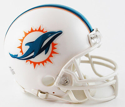 Nfl Mini Helmet - MIAMI DOLPHINS 2013-2017 RIDDELL NFL FOOTBALL MINI HELMET - NEW IN BOX 8004728