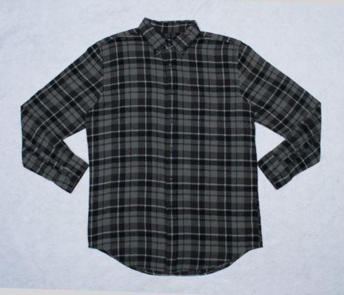 Mens Black White Flannel Shirt Ebay