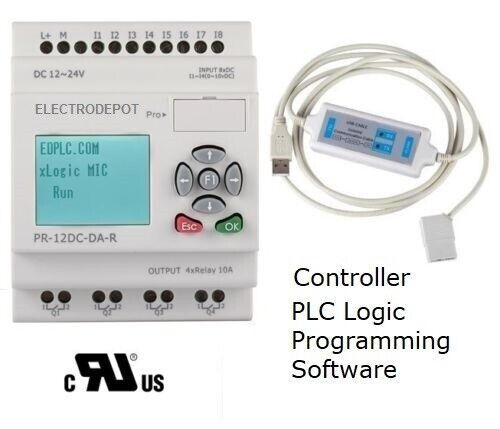 PLC STARTER KIT Programmable Controller, Analog Digital w Software USB interface