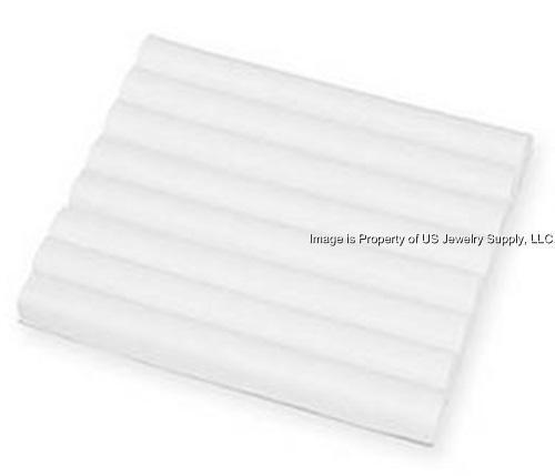 1 White Leatherette 7 Row Tufted Display Organizer Storage Liner Insert