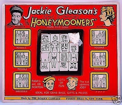 JACKIE GLEASON 'THE HONEYMOONERS' SLIDE PUZZLE ROALEX