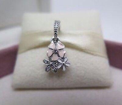 Genuine Pandora 1/2 PRICE SALE Poetic Blooms Dangle Charm & Pandora Gift Pouch